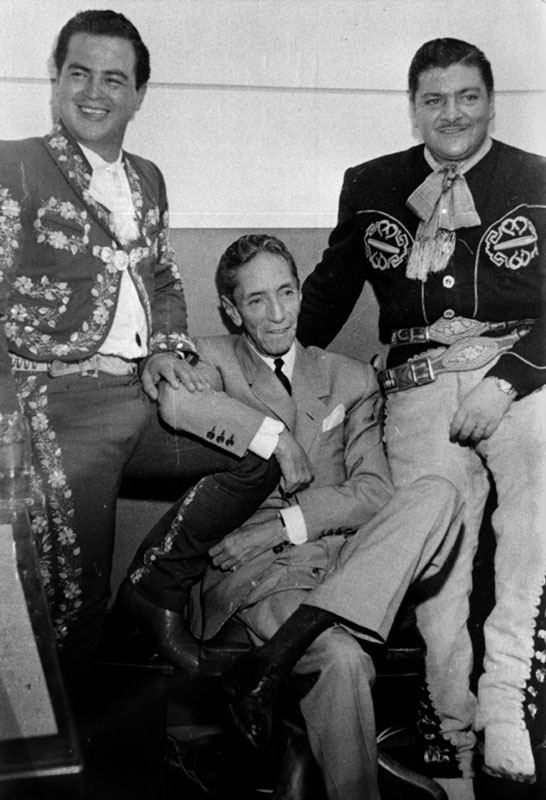 Three giants of the song: Tomás Méndez, Agustín Lara and José Alfredo Jiménez.